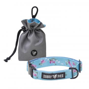 Regulowana obroża i woreczek na przysmaki z kolekcji ŁOTR&MELON marki Dobry Pies